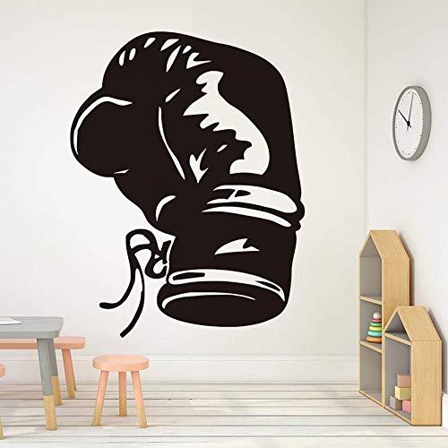 fancjj Moda Boxeo Deportes Tatuajes de Pared decoración para el hogar Sala de Vinilo Guante de Boxeo Etiqueta de la Pared para niños Venta Ahueca hacia Fuera el diseño 58X76CM