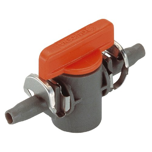 Gardena Micro-Drip-System Absperrventil 4.6 mm (3/16 Zoll): Regulierventil zur Rohrabsperrung einzelner Rohrstränge (Art.-Nr. 1348, 1350) (8357-20)