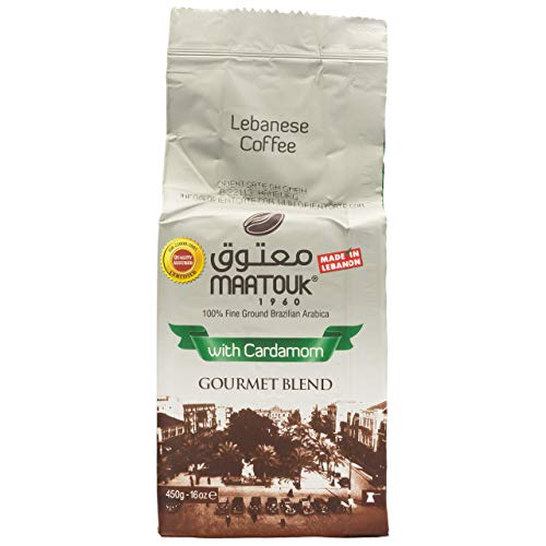 Maatouk - Arabischer Mokka Kaffee gemahlen mit Kardamom verfeinert in 450 g Packung