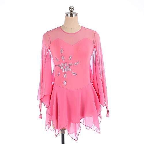 GXLO Gymnastique Manches Longues Danse Ballet de Ballet Gymnastique Justaucorps pour Filles 5-12 Ans Couleur Gradient Gradient Design Scintillant,L