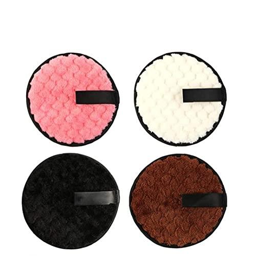 Removant De Maquillage Tapis De Tissu Puff Souples Réutilisables Réutilisables Double Face Instantanément avec Juste des Lingettes d'eau pour Le Nettoyant Facial 4pcs