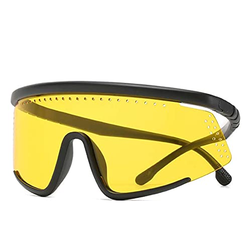 AMFG Gafas de sol coloridas sin marco, gafas de marco grande, gafas de sol de personalidad para hombres y mujeres (Color : A)