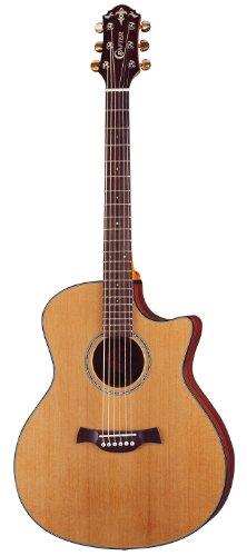 Crafter GAE 648 CD - Chitarra elettroacustica, in legno di cedro massiccio, a spalla mancante