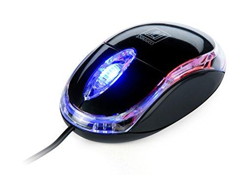 Connect IT Maus Leuchtende optische Maus Schwarz