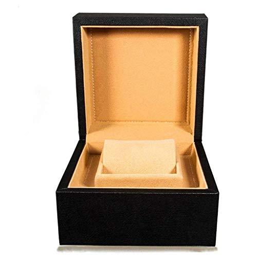 ADSE Regalo Reloj Reloj Estuche de Almacenamiento Reloj de Pulsera Estuche de exhibición Cuero sintético con cojín Negro