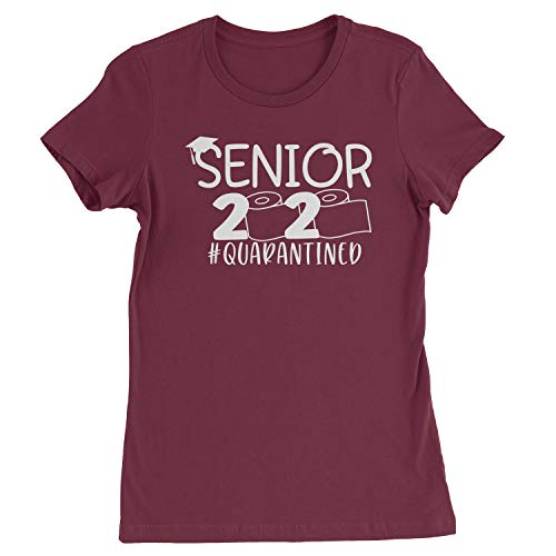 Expression Tees Womens Seniors 2020 Quarantined Toilet Paper T-Shirt Medium Maroon