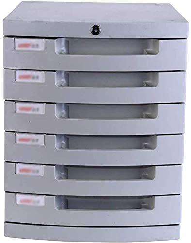 Classeur avec tiroir Classeur de glissement de terrain Piste Petit tiroir blanc Étiquette Divers Armoire de rangement en plastique Anneau fichier - 38,2 x 29,8 x 36.6cm Fournitures de bureau