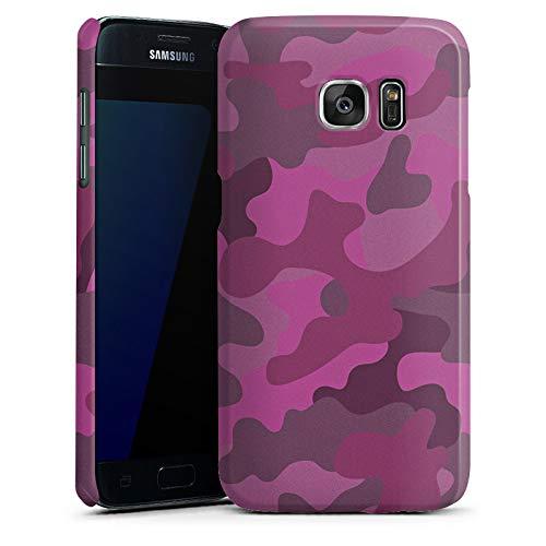 DeinDesign Premium Case Glänzend kompatibel mit Samsung Galaxy S7 Hülle Handyhülle Camouflage Bundeswehr Muster