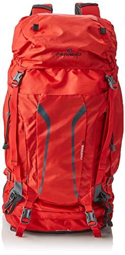 FERRINO Finisterre 48 Sac à dos de randonnée unisexe, Mixte, Sac à dos de trekking, 75735HRR, rouge, 48 Litri