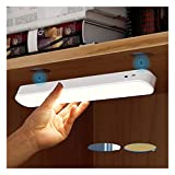 LED Closet Light, Dimmable Under Cabinet Lights, Wireless Stick on Lights, Magnetic Night Light Bar with 1800mAH Rechargeable Battery, Under Counter Lights for Kitchen Cabinet Stairs Hallway Sink