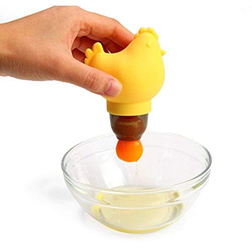 LYGACX Separatore di Uova, Separatore di tuorlo d\'uovo, Separatore di Uova di tuorlo Bianco in Silicone, Divisore per estrattore di albume d\'uovo di Pollo Spremere, Gadget da Cucina