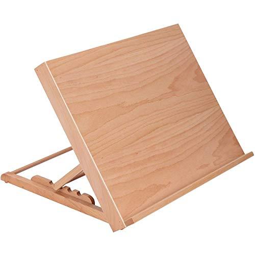 Chevalet de table réglable en bois pour étudiant, artiste pliable, planche à dessin, esquisse, peinture, présentation, fournitures d'art et d'artisanat - Inclinaison à 90°