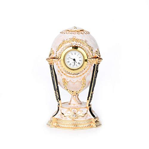 Guai Ankunft Russischer Hahn Faberge Ei Trinket Boxen mit Uhr für Wohnkultur