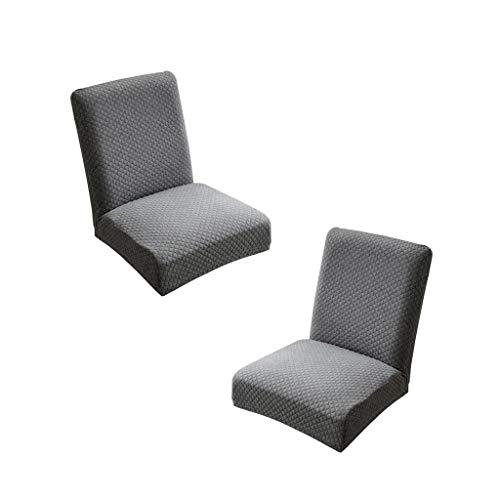 PETSOLA 2pcs Stuhlhussen Grau Stuhlbezug Stuhlüberzug Stuhlabdeckung für Barhocker Stuhl