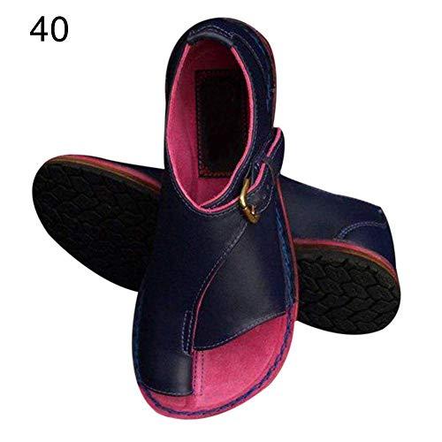 Lacyie Mujeres Plat Sandalias Corpiño Corrector de juanete Big Toe Straightener Zapatos de Playa de Verano cómodos