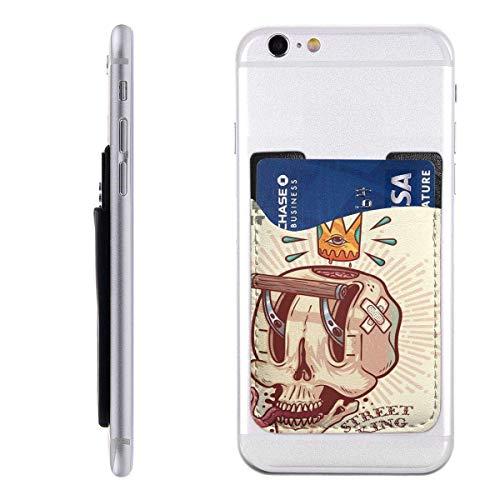 Interieur Shop portemonnee voor mobiele kaarten portemonnee ID-vak met kaartenvak voor cadeaukaarten Street Skull Car Wrap bedrukbaar