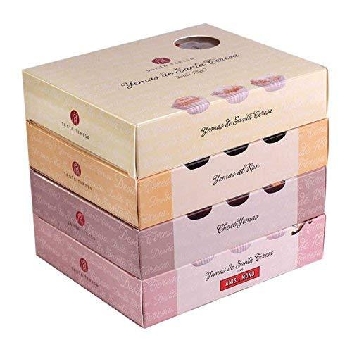 Pack de 4 cajas de Yemas Santa Teresa - 12 unidades x 4 cajas - 4 sabores
