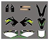 bazutiwns Kit de Etiquetas engomadas de la decoración del Fondo del Equipo de la Motocicleta para Kawasaki KX450F KXF450 2009-2012 HSLL