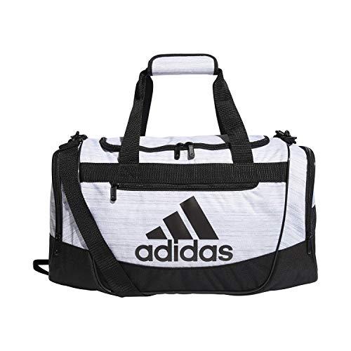 adidas Unisex Defender III Small Duffel Bag, White Two Tone/ Black, Small