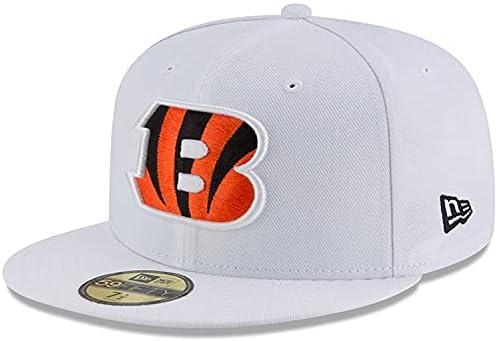 New Era Men's White Cincinnati OFFer Omaha Hat 59FIFTY Fitted Bengals Over item handling