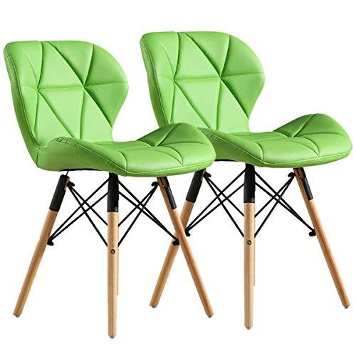 RJJBYY Juego de 2 sillas de comedor de madera con patas de madera y asiento acolchado cómodo para el hogar, la oficina, silla de comedor