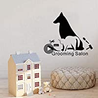 Ronronner 犬グルーミングサロンペットショップ装飾壁ステッカー家の装飾取り外し可能な防水デカールペットショップ壁紙装飾84X80Cm
