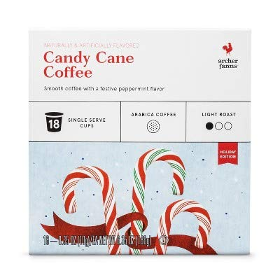 Archer Farms Candy Cane Coffee Light Roast 18 Cups Holiday Edition, 6.35 OZ (One Pack)