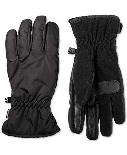 Isotoner Herren Handschuhe Smart Dri Fleece gefüttert Touchscreen Winter Handschuhe Schwarz M