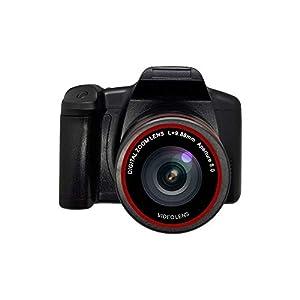Kasachoy Cámara SLR digital, pantalla TFT LCD de 2,4 pulgadas, sensor CMOS de 16 MP, zoom 16X antivibración para entusiastas de viajes y viajes familiares, color negro