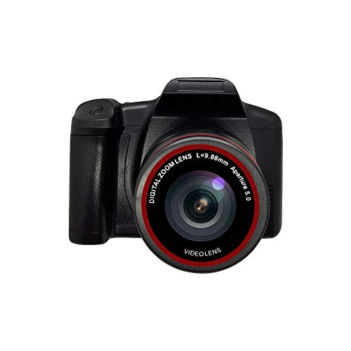 Digitale camera vloggen camera videocamera, 1080P Ultra HD LCD-scherm 2,4 inch 16X digitale zoom, anti-shake cameras voor beginners