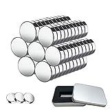 Neodym Magnete 100 Stück 5mm x 1mm Stark Neodym Magnete mit Aufbewahrungs Box, Mini Magneten für Whiteboard, Magnettafel, Magnetstreifen, Kühlschrank, DIY Handwerk