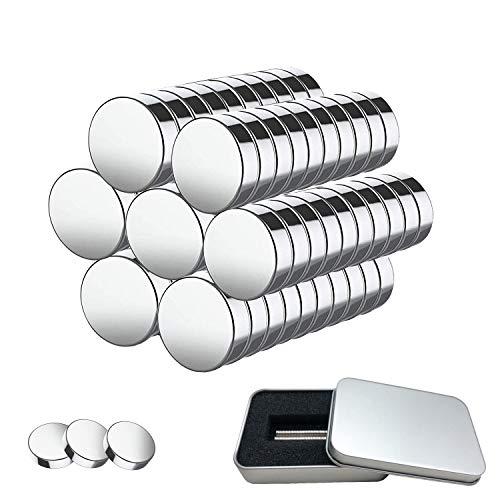 Magneti al Neodimio 100 Pezzi di Magneti al Neodimio da 5mm x 1mm con Scatola di Immagazzinaggio, Mini Magneti per Lavagna, Lavagna Magnetica, Strisce Magnetiche, Frigorifero, Forno a Microonde