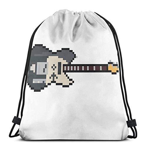 Pixel 1952 Black Pearl Gitarre Sport Sackpack Kordelzug Rucksack Gym Bag Sack