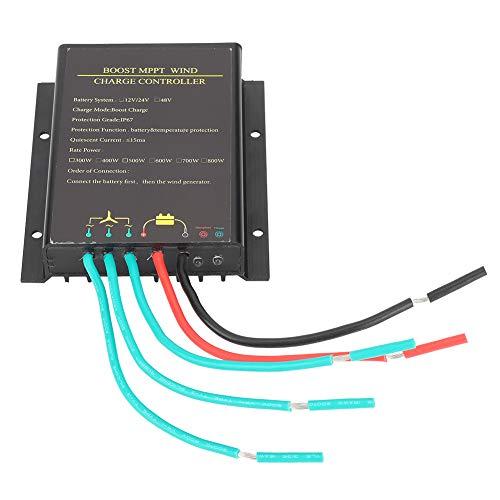 Controlador de carga MPPT 800W Regulador de energía eólica 48V Controlador de turbina eólica a prueba de agua y carga de refuerzo de Mppt, potencia de entrada del ventilador: 48v ≤ 800w