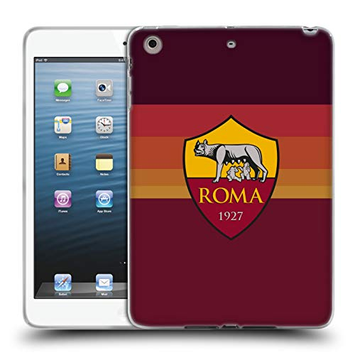 Head Case Designs Officially Licensed AS Roma Home 2020/21 Crest Kit Soft Gel Case Compatible with Apple iPad Mini 1 / Mini 2 / Mini 3