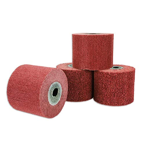 SPTA 4 piezas Mix Grit 80 #, 120 #, 240 # y 320 # Rodillo de saturación, ruedas de fregona que funcionan para máquina de pulir placa de hierro
