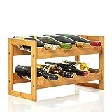 bambuswald© Weinregal für 8 Flaschen aus 100% nachhaltigem Bambus   Etagen Flaschenregal Weinschrank Weinhalter Weinablage