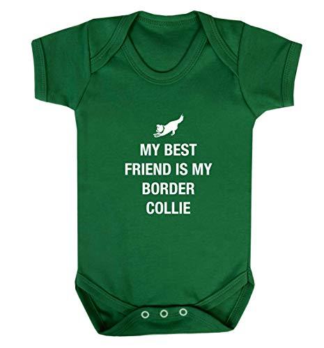 Flox Creative Baby Vest Best Friend Border Collie - Vert - XS