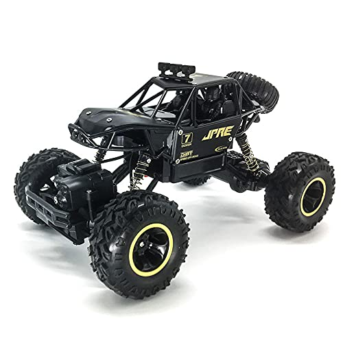GDFDC Coche RC De Escalada Todoterreno, Buggy RC Eléctrico 4WD, Camión RC Todoterreno De Alta Velocidad 2.4G, Vehículo RC Bigfoot Monster De Aleación,Juguete De Regalo para Niño