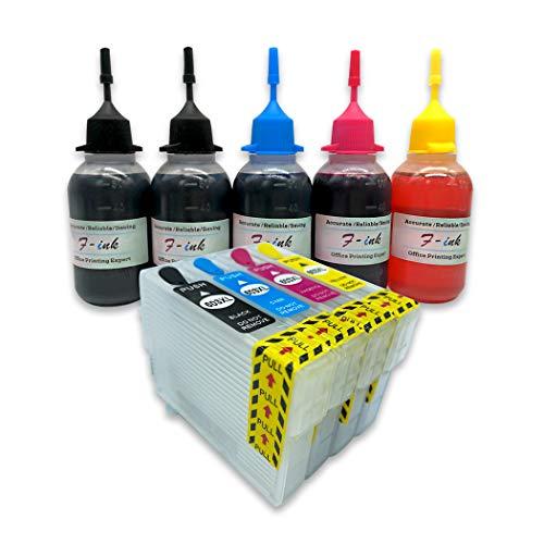 F-ink 5 x 50 ml Ersatz-Tintenpatronen für Eps 603 oder 603XL, funktioniert mit Expression Home XP-3100 XP-2105 XP-4100 XP-2100 XP-3105 XP-4105 WF-2810 WF-2830 WF-2835 WF-2850 Drucker