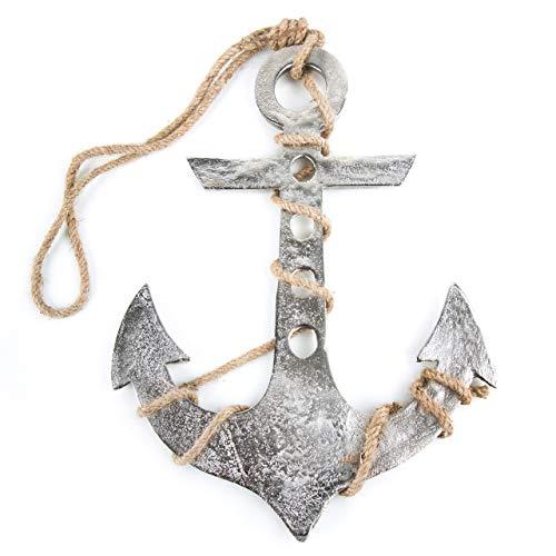 Logbuch-Verlag Ancla Decorativa de Metal para Colgar, 29 cm de Alto, símbolo de Ancla de Barco, Regalo de Boda, Matrimonio, Amuleto de la Suerte, Amor, Ancla de Barco, Colgador