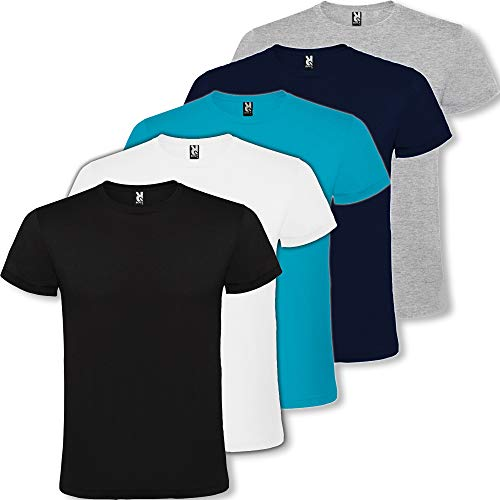 Camiseta Hombre | Pack 3 | Manga Corta | 100% Algodón (XXL)