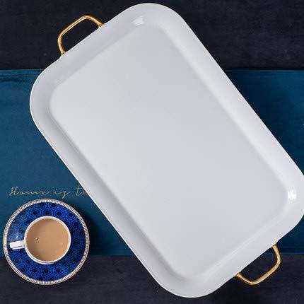 XJYJF, set di tazze da caffè e pentole, per colazione, latte, caffè a due o tre strati, piatto da frutta ecologico, regalo di nozze, tazze da caffè, ceramica (colore: vassoio)
