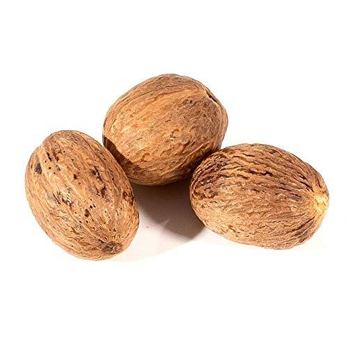 Muskatnuss ganz 3 Stück 17 Gramm klassisches Kartoffelstampfgewürz, ohne Zusatzstoffe, ohne Geschmacksverstärker - Bremer Gewürzhandel
