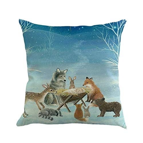 "L.TSN Christmas Decorations Sale Christmas Printing Dyeing Sofa Bed Home Decor Pillow Cover Cushion Cover 45cm*45cm"" Merry Christmas Decorative Xmas Decor Ornaments Party Decor Best Gifts UK"
