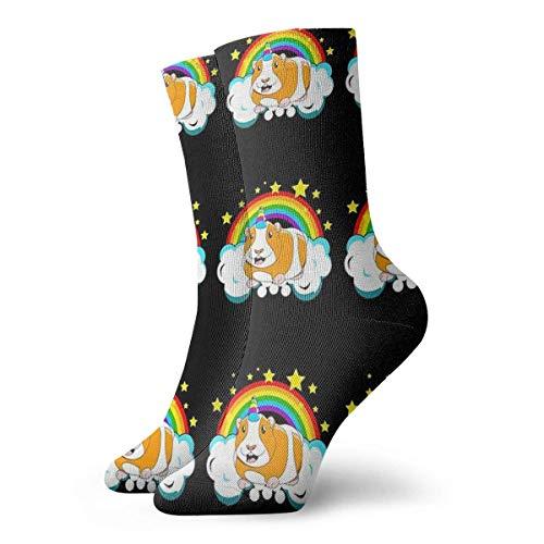 Meerschweinchensocken, Regenbogensocken, klassisch, Sport, kurze Socken, 30 cm, geeignet für Männer und Frauen