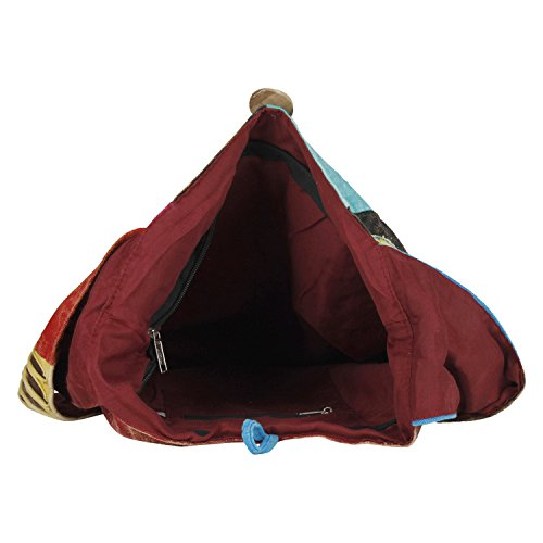 Vanya Handicraft Collection Cotton Sling Cross Body Messenger Hobo Shoulder Bag ( Hippie Boho Bohemian Light Roomy, Multicolour )