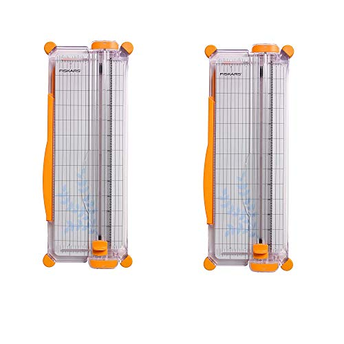 Fiskars SureCut - Recortadora de papel portátil, 12 pulgadas de corte
