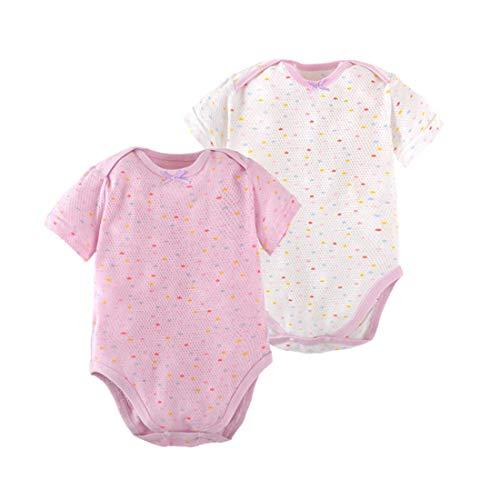 PAUBOLI - Body para bebé (2 unidades, algodón, 3 a 24 meses) Morado Morado ( 6-12 Meses