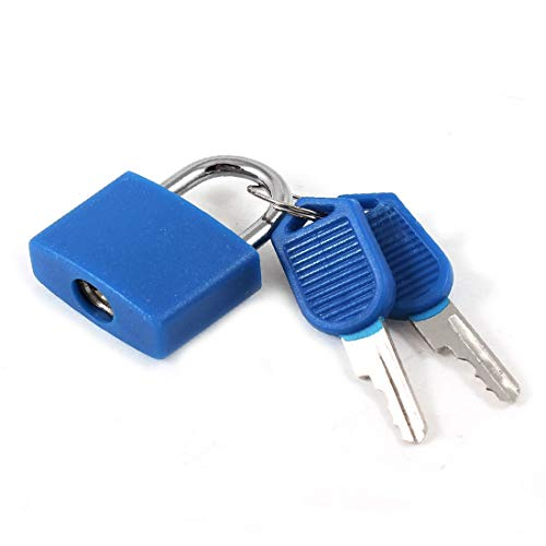 New Lon0167 Rectangle Drawer Featured Cabinet Suitcase Toolbox Reliable Efficacy Padlock Blue 22mm w 2 Keys(id:4e4 f6 94 347)